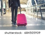 businessman and suitcase in the ... | Shutterstock . vector #684505939