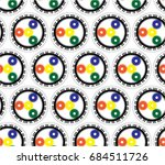 pattern mechanical piano with a ... | Shutterstock .eps vector #684511726