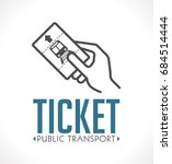 public transport ticket logo  ... | Shutterstock .eps vector #684514444