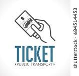 public transport ticket logo  ... | Shutterstock .eps vector #684514453