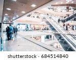 bokeh shopping mall background | Shutterstock . vector #684514840