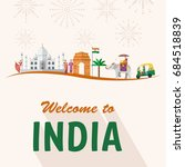 flat design  indian's icons and ...   Shutterstock .eps vector #684518839