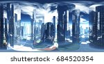 panorama of the city.... | Shutterstock . vector #684520354