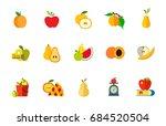 fruit diet icon set | Shutterstock .eps vector #684520504