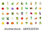 vegan food icon set | Shutterstock .eps vector #684520534