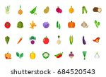 harvest icon set | Shutterstock .eps vector #684520543
