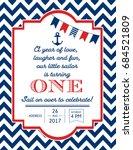 nautical sailor theme printable ... | Shutterstock .eps vector #684521809