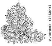 henna tattoo flower template....   Shutterstock .eps vector #684526468