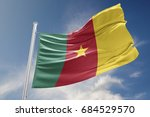 cameroon flag is waving at a... | Shutterstock . vector #684529570