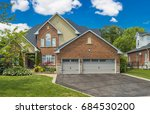 luxury house in the suburbs of... | Shutterstock . vector #684530200