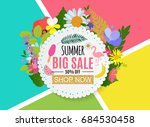 summer sale abstract banner... | Shutterstock .eps vector #684530458