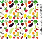 seamless pattern of fruits and... | Shutterstock . vector #684531376