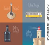 travel to portugal concept... | Shutterstock .eps vector #684533140