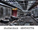 Belgium Montzen treinstation in extreme tonemapped HDR.