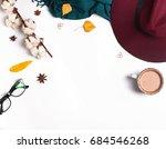 autumn accessories for woman... | Shutterstock . vector #684546268