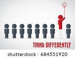 think differently   being... | Shutterstock .eps vector #684551920