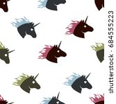 unicorn head colors pattern | Shutterstock .eps vector #684555223