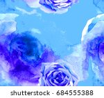 Watercolor Texture And Rose...