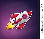 vector illustration. rocket... | Shutterstock .eps vector #684559114