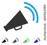 announce horn flat vector... | Shutterstock .eps vector #684562084