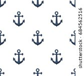 anchor icon in cartoon style... | Shutterstock .eps vector #684562516