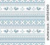 ethnic seamless patterns ... | Shutterstock .eps vector #684564340