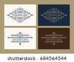 vintage luxury ethnic art deco... | Shutterstock .eps vector #684564544