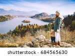 family travel europe. mother... | Shutterstock . vector #684565630