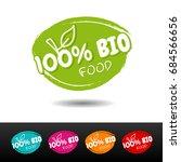 set of 100  bio food badges....   Shutterstock .eps vector #684566656