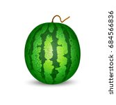 isolated image of a watermelon... | Shutterstock .eps vector #684566836
