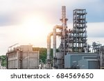 industrial view at oil refinery ... | Shutterstock . vector #684569650