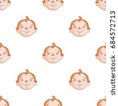 son icon in cartoon style... | Shutterstock .eps vector #684572713