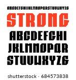 narrow sanserif font in... | Shutterstock .eps vector #684573838
