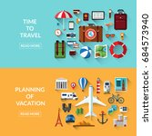 travel  tourism  planning of... | Shutterstock .eps vector #684573940