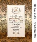 vintage baroque style wedding... | Shutterstock .eps vector #684579148