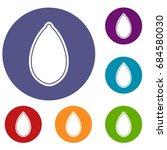pumpkin seed icons set | Shutterstock .eps vector #684580030