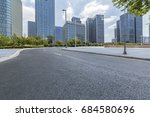 empty urban road with modern... | Shutterstock . vector #684580696