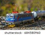 model electric locomotive in... | Shutterstock . vector #684580960