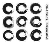 circle frames of thick black... | Shutterstock .eps vector #684581980