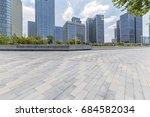 empty floor with modern... | Shutterstock . vector #684582034