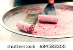 berry ice cream roll   Shutterstock . vector #684583300