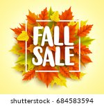 fall sale text vector banner... | Shutterstock .eps vector #684583594