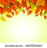 autumn background vector... | Shutterstock .eps vector #684583660