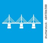 bridge icon white | Shutterstock .eps vector #684586588