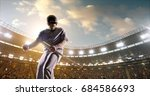 a male baseball player is happy ... | Shutterstock . vector #684586693