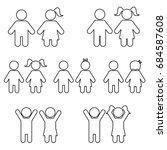 children line icon set... | Shutterstock .eps vector #684587608