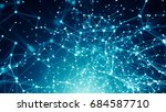 abstract connected dots on... | Shutterstock . vector #684587710