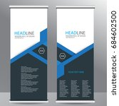 roll up business brochure flyer ... | Shutterstock .eps vector #684602500