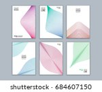set of cover design with... | Shutterstock .eps vector #684607150