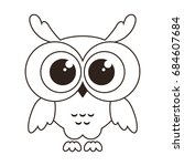 cute owl icon isolated on white | Shutterstock .eps vector #684607684